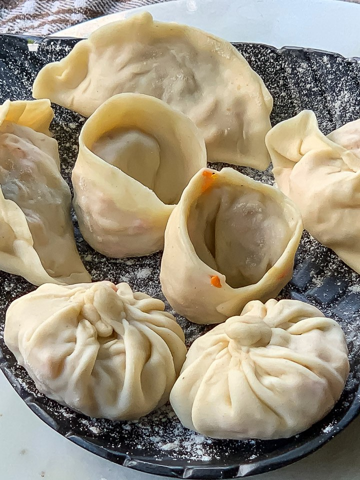 4 easy ways to fold momos, Veg Momos shapes.