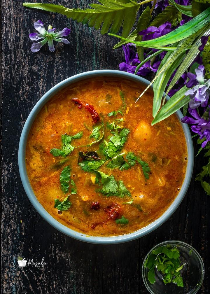 Top angle view of Tiffin Sambar Recipe