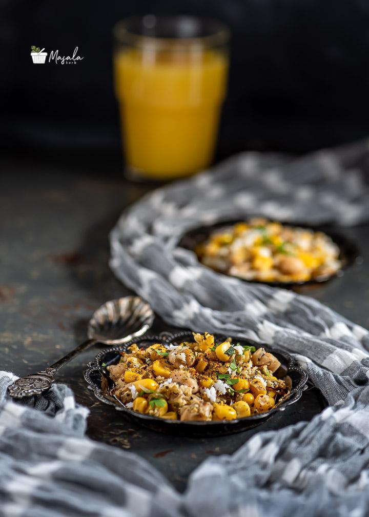 Masala Sundal with chickpeas & corn