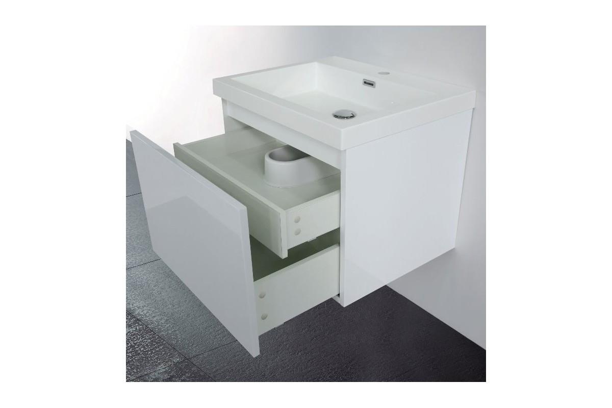 Meuble De Salle De Bain 60 Cm Suspendu Simple Vasque Primo Masalledebaindesign Fr