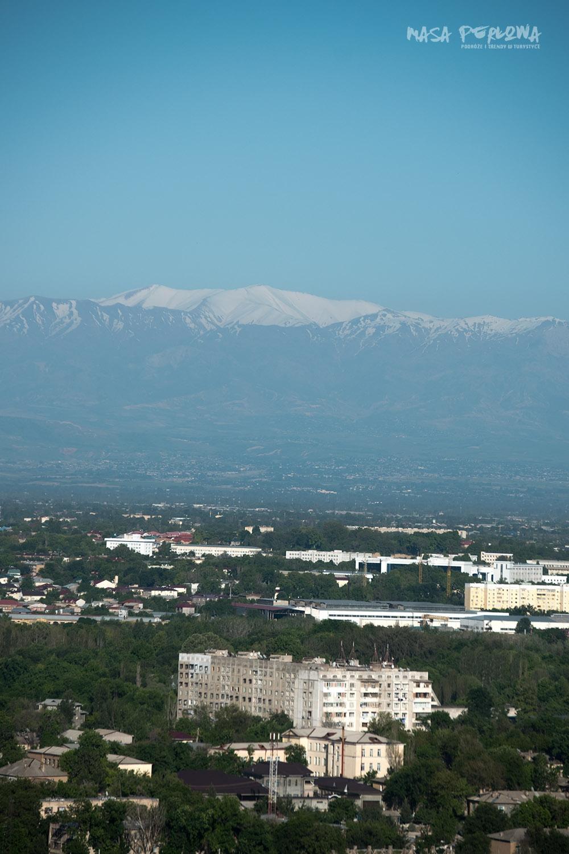 Taszkient góry widok z wiezy tv