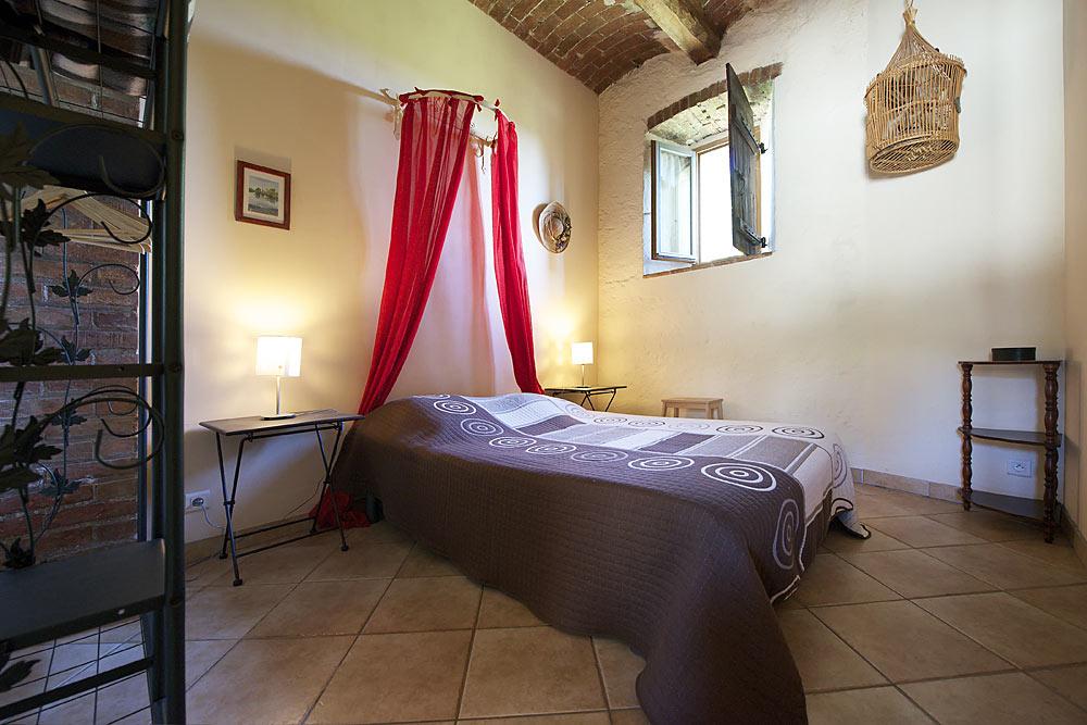 La chambre double aux Treilles au Mas de la Baillyde, gîtes de charme en Cévennes