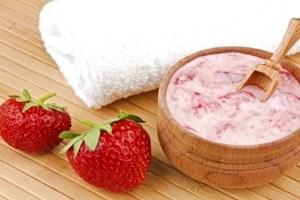 Mascarilla de Fresas y Yogurt
