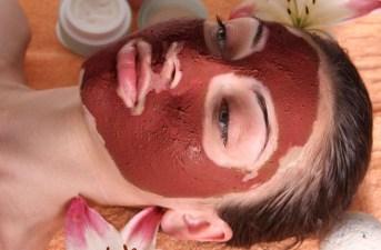 mascarilla de barro rojo