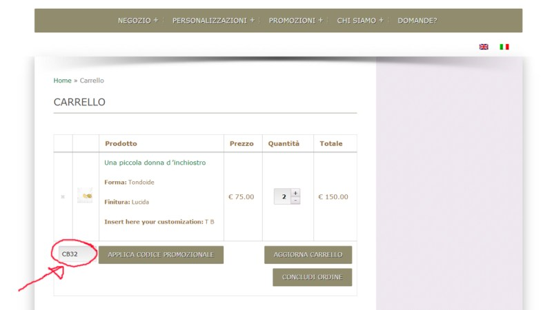 Codice COUPON