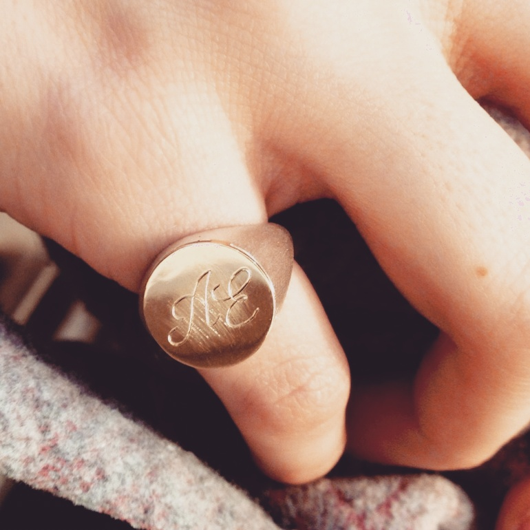 Chevalier ring with your monogram _ maschio gioielli