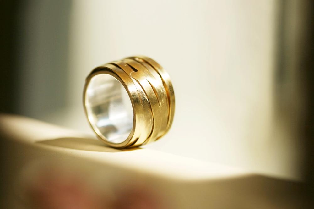 Maschio Gioielli Milano _ gold and silver ring