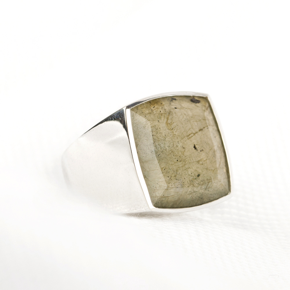 Silver ring with labradorite _ polished (2)