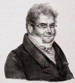 gezeichnetes Porträt von Adolphe Pierre Lektion
