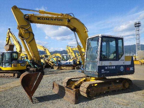 Used Komatsu Pc60 6 Crawler Excavators Year For Sale