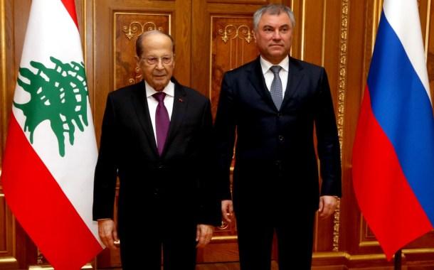 عون زار مجلس الدوما والتقى رئيس شركة روسنفت