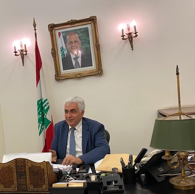 بيان استقالة وزير الخارجية والمغتربين ناصيف حتّي