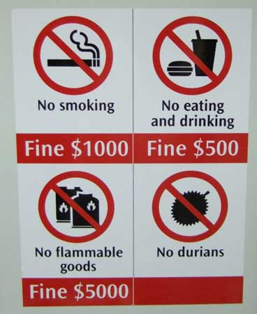 No durians