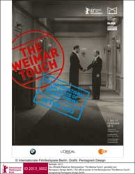 "The official poster of the Retrospective ""The Weimar Touch"", designed by Pentagram Design, Berlin"