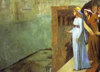 Semiramide alla costruzione di Babilonia di E. Degas (particolare)