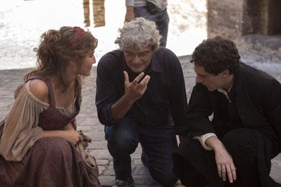 Gloria Ghergo, Mario Martone (regista) e Elio Germano - Foto di Mario Spada