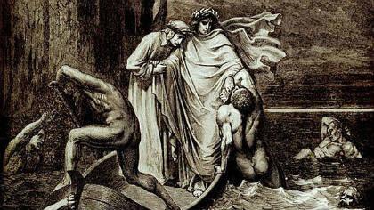 Il match Alighieri vs Filippo Argenti nelle illustrazioni di Gustave Dorè