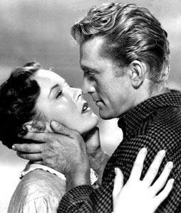 Publicity-photo-of-Eve-Miller-and-Kirk-Douglas-for-film-The-Big-Trees.1952