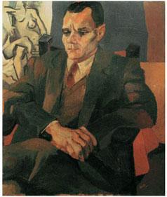 Ritratto di Alberto Moravia 1940