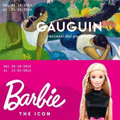 4 Mudec poster mostre gauguin e barbie