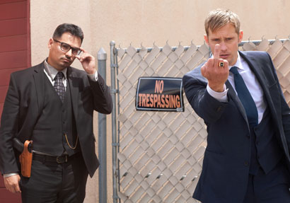 Michael Peña e Alexander Skarsgård nel film War on Everyone - Photo: courtesy of Berlinale