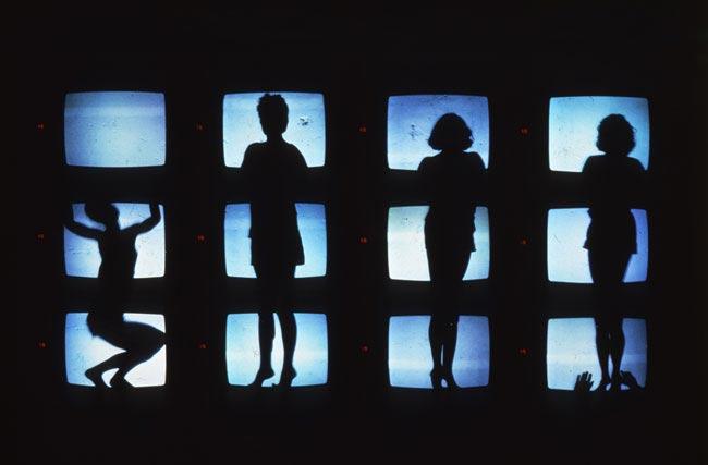 """""""Prologo e Diario Segreto Contraffatto"""" di Studio Azzurro - Opera videoteatrale, 1985 Roma, La Piramide - Foto: ufficio stampa"""