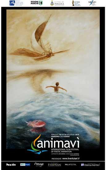 Il poster ufficiale del festival ANIMAVÌ