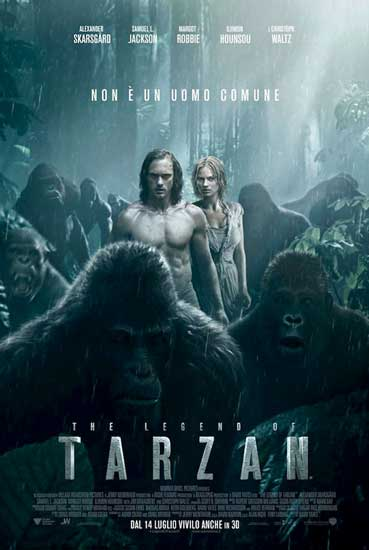 Il poster ufficiale del film The Legend of Tarzan