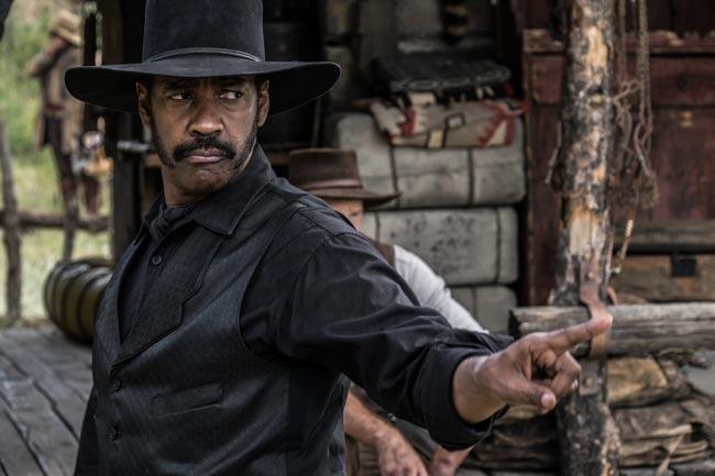 Denzel Washington in una scene de i Magnifici 7 - Photo: courtesy of Warner Bros. Italia