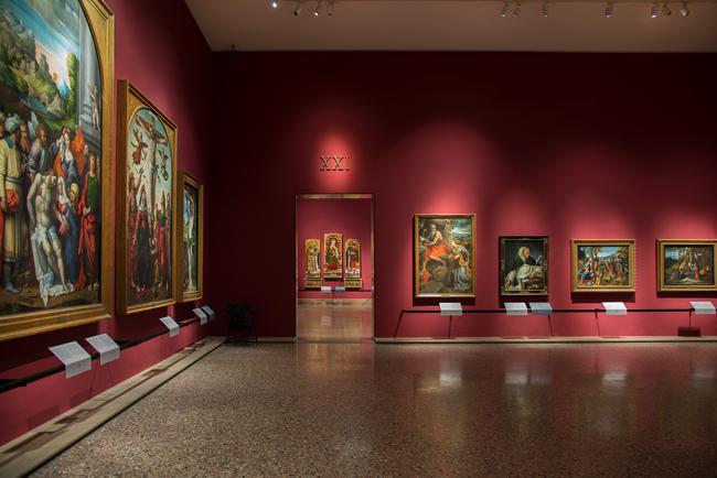 Il primo allestimento della Pinacoteca di Brera, sala 21 - Foto di James O'Mara