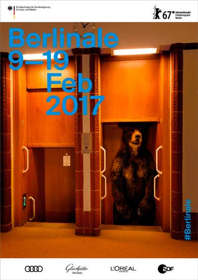 Uno dei poster ufficiali della Berlinale 2017 – Velvet Creative Office © Internationale Filmfestspiele Berlin