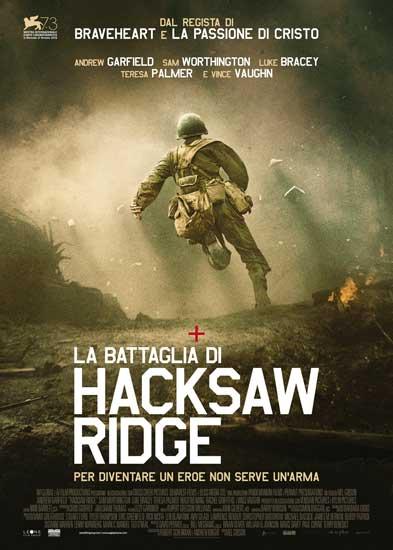 Il poster italiano del film La Battaglia di Hacksaw Ridge