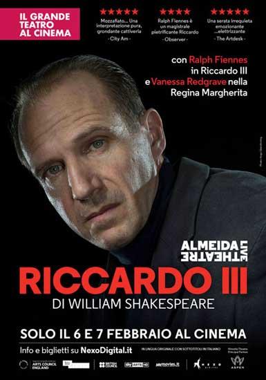 Il poster del Riccardo III al cinema