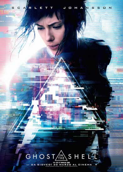 Il poster italiano del film Ghost in the Shell