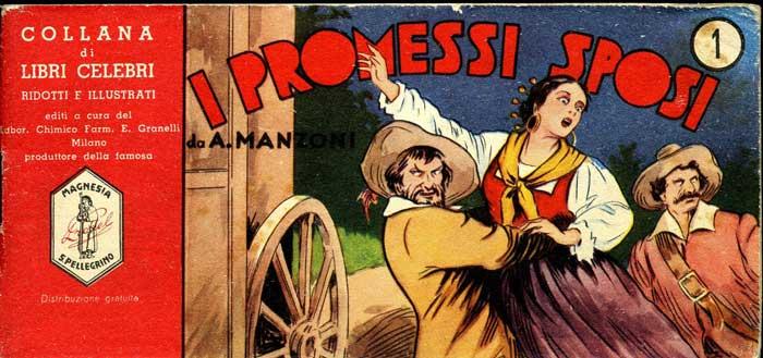 La copertina della versione Magnesia San Pellegrino de I Promessi Sposi