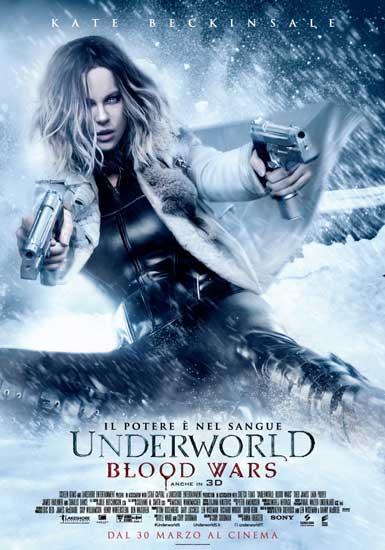 Il poster italiano del film UNDERWORLD: BLOOD WARS