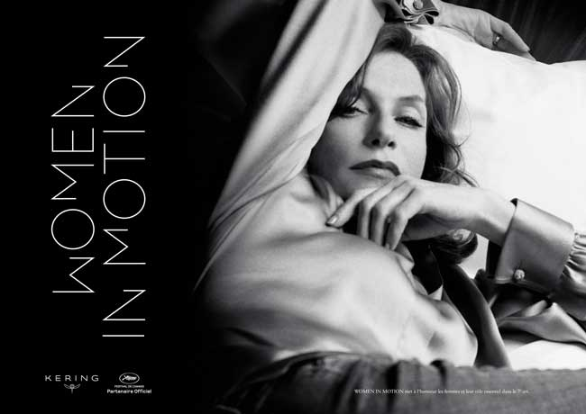 Isabelle Huppert volto di Women in Motion 2017 - Photo: courtesy of Women in Motion press office