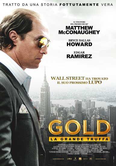 Il poster italiano del film Gold - La grande truffa