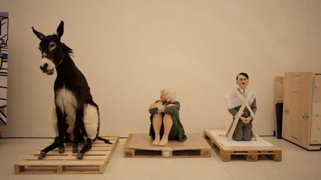 Un'immagine di Maurizio Cattelan Be Right Back - Photo: courtesy of Nexo Digital