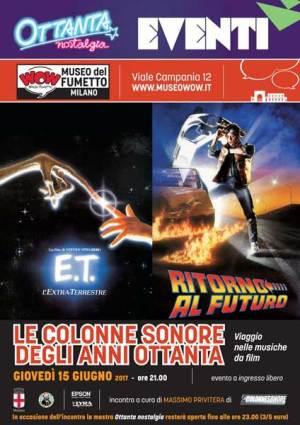 Il manifesto dell'evento LE COLONNE SONORE DEGLI ANNI OTTANTA