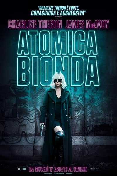 il poster italiano del film Atomica Bionda