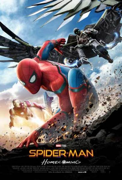 il poster del film Spider-Man: Homecoming