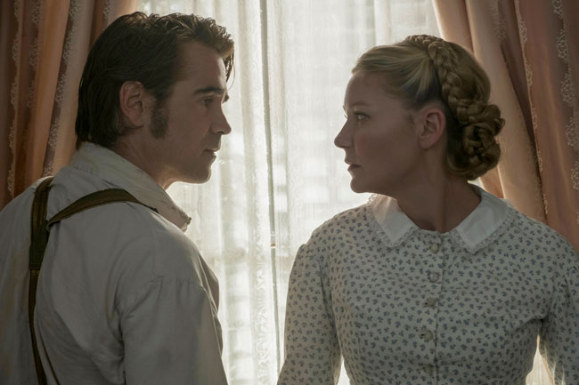 Colin Farrell e Kirsten Dunst nel film L'Inganno (The Beguiled) © 2017 Focus Features LLC. All Rights Reserved.