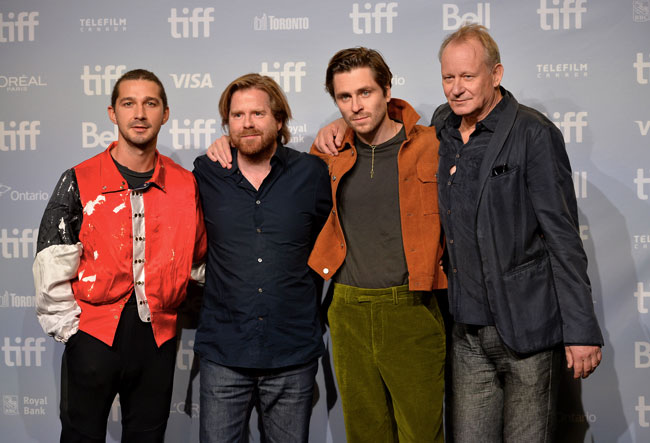Cast e regista di Borg/McEnroe - Photo: courtesy of Alberto E. Rodriguez. Getty Images for TIFF