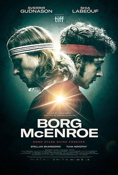 il poster internazionale del film Borg/McEnroe