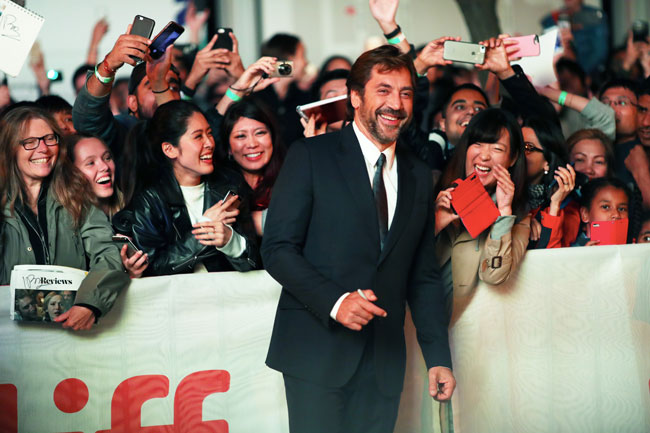 Javier Bardem sul red carpet a Toronto - Photo: George Pimentel, WireImage for TIFF