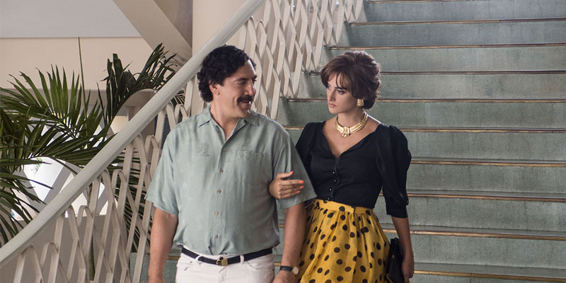 Javier Bardem e Penelope Cruz in una scena di Loving Pablo - Photo: courtesy of TIFF