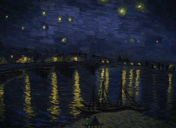 Loving Vincent - Landscape Starry Night over the Rhone