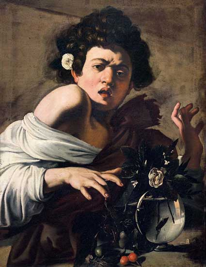 Dentro Caravaggio - Ragazzo morso da un ramarro (1597)