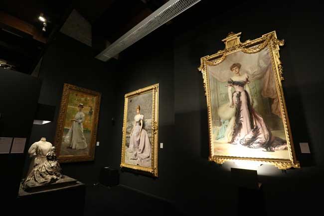 Un'immagine dell'allestimento della mostra Divina Creatura - Ph: courtesy of Pinacoteca Züst